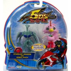 YuGiOh 5D's Playmates 2.5 Inch Mini Figure 2-Pack Stardust Dragon & Sonic Chick