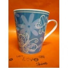 mug fiore blu