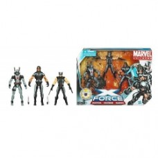 marvel universe X-Force with Wolverine, Deadpool, and Warpath