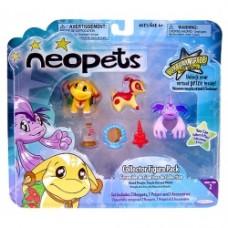 Neopets 2 Inch Vinyl Island Poogle, Purple Koi & Mimbi