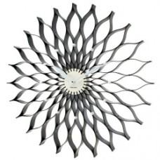 Black Lotus Wall Clock - 50cm