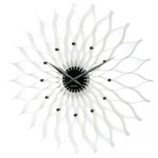 white Lotus Wall Clock - 50cm
