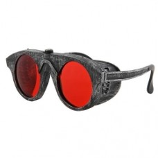 Steampunk Silver/Red Forgeman Glasses