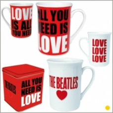 set 2 mug beatles all you need is love