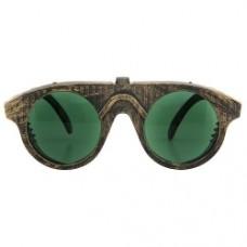 steampunk gold/green forgeman glasses