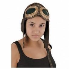 steampunk brown aviator hat