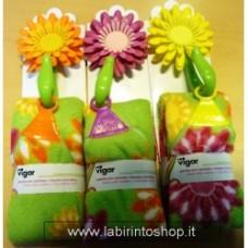 panno microfibra con gancio flower power