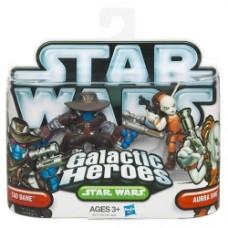 Galactic Heroes Cad Bane and Aurra Sing