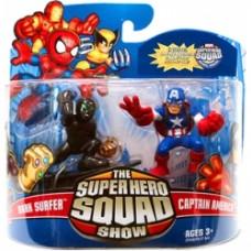 Super Hero Squad - Dark Surfer and Captain America