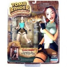 Tomb Raider - Lara Croft Doll w/ Bengal Tiger