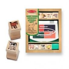 baby farm animals stamp set