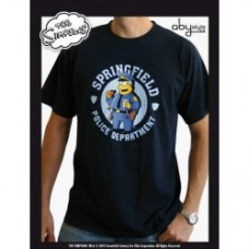 SIMPSONS - T-shirt  Chef Wiggum  man SS navy