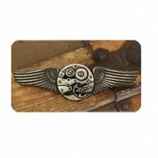Steampunk Antique Gear Wings Pin