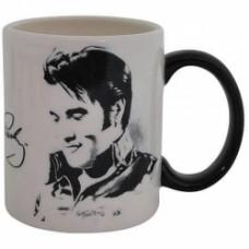 elvis presley black and white mug