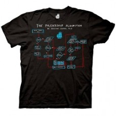 Big bang theory Algorithm black t-shirt