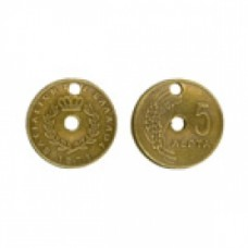 18 mm Steampunk Coin Gold