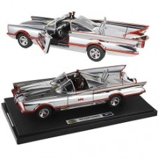 Batman Hot Wheels 1966 1 18 Scale Elite Chrome Batmobile