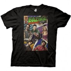 Big Bang Theory Bazinga Comic Cover Black T-Shirt