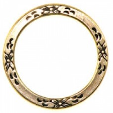25mm Floral Eternal Ring Ant.GOLD