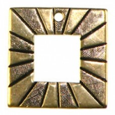 18mm Etched Square charm Ant.GOLD