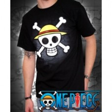 """ONE PIECE - Tshirt """"Skull with map"""" black"""