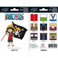 ONE PIECE - Stickers - 16x11cm/ 2 leeves