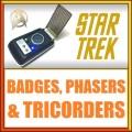 Badge, Phaser, Tricorder