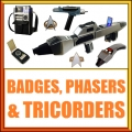 Badge, Phaser, Tricorder