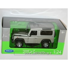 Welly - LAND ROVER DEFENDER (Silver) Die Cast Model - Scale 1:24