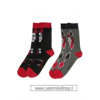 DC Comics Ladies Socks 2-Pack Harley Quinn