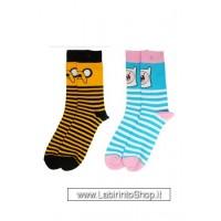Adventure Time Ladies Socks 2-Pack Jake & Finn