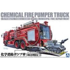 Aoshima Chemical Fire Fighting Pump Car (Osaka Municipal Fire Department C6)