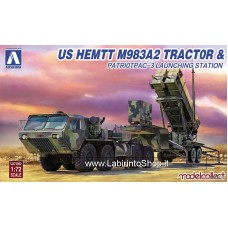 Aoschima US HEMTT M983A2 Tractor & Patriot PAC-3 Launching Station