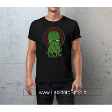 Cthulhu T-Shirt Yellow Eyes black