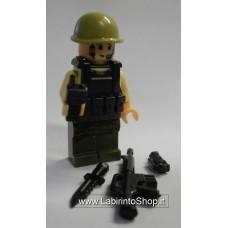 Militare Divisa Beige Pantaloni verde scuro 02