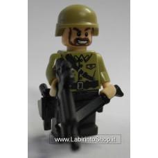 Militare Divisa Beige Pantaloni verde scuro 01