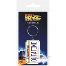 Back to the Future Rubber Keychain License Plate 6 cm