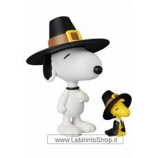 Peanuts Pilrgrim Snoopy and Woodstock UDF Mini-Figure
