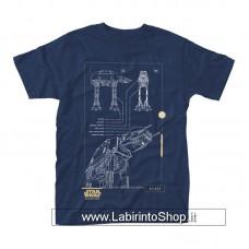 Star Wars Rogue One T-Shirt Blue Print