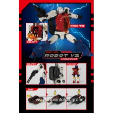Perfect Effect Diaclone PD-01 Diaclone Reboot Robot V2 & Star Pilot