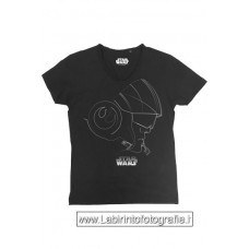 Star Wars Episode VIII T-Shirt Silver Poe