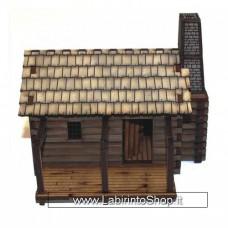 4-ground Settler's Log Timber Cabin 2 28mm
