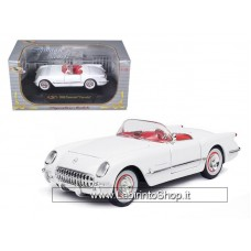 Signature 1953 Chevy Corvette Convertible White 1/32