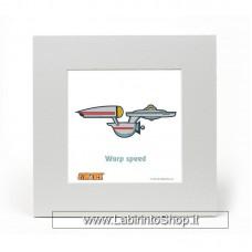 Star Trek Art Print Enterprise 20 x 20 cm