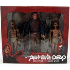 Ash vs. Evil Dead 7 Inch Action Figure 3-Pack Series - Bloody Ash vs Demon Spawn