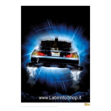 Back to the Future Art Print Night Rear 42 x 30 cm