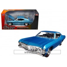 "Jada 1967 Chevrolet Impala Blue ""Showroom Floor"" 1/24 Diecst Model Car"