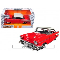 """Jada 1957 Chevrolet Bel Air Red """"Big Time Muscle"""" 1/24 Diecst Model Car"""