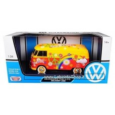 "Motor Max 1:24 scale VW Type 2 (T1) Delivery Van ""Flower Power"""