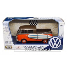 Motor Max 1:24 79560 VW Volkswagen Type 2 T1 Double Cab Pick Up Truck 1/24 Surfboard